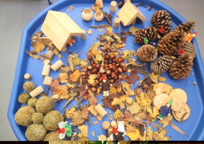 Autumn Play at Greatworth PreSchool Near Brackley