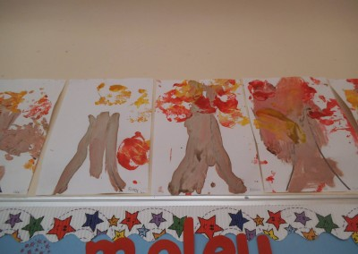 trees art at Greatworth PreSchool Near Brackley