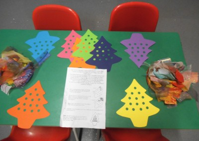 Christmas craft at Greatworth PreSchool Near Brackley