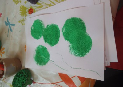 clover art at Greatworth PreSchool Near Brackley3