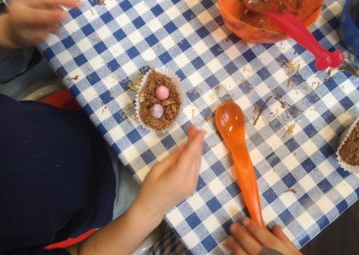 Easter Cakes Easter Craft at Greatworth PreSchool Near Brackley