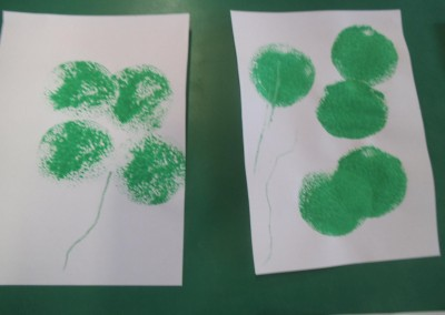 clover art at Greatworth PreSchool Near Brackley