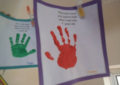 Handprint at Greatworth PreSchool Near Brackley