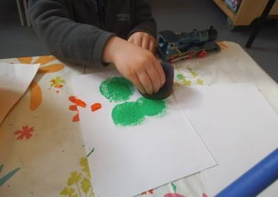 clover art at Greatworth PreSchool Near Brackley2