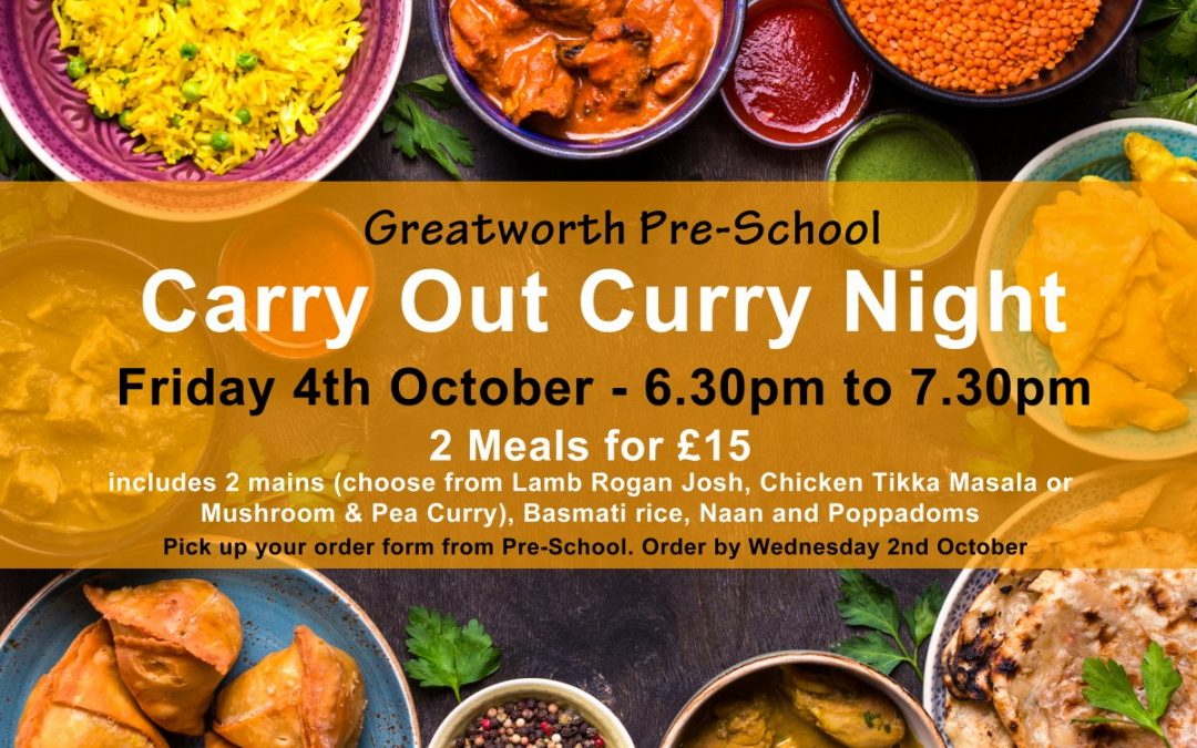 Curry Night – 4th October